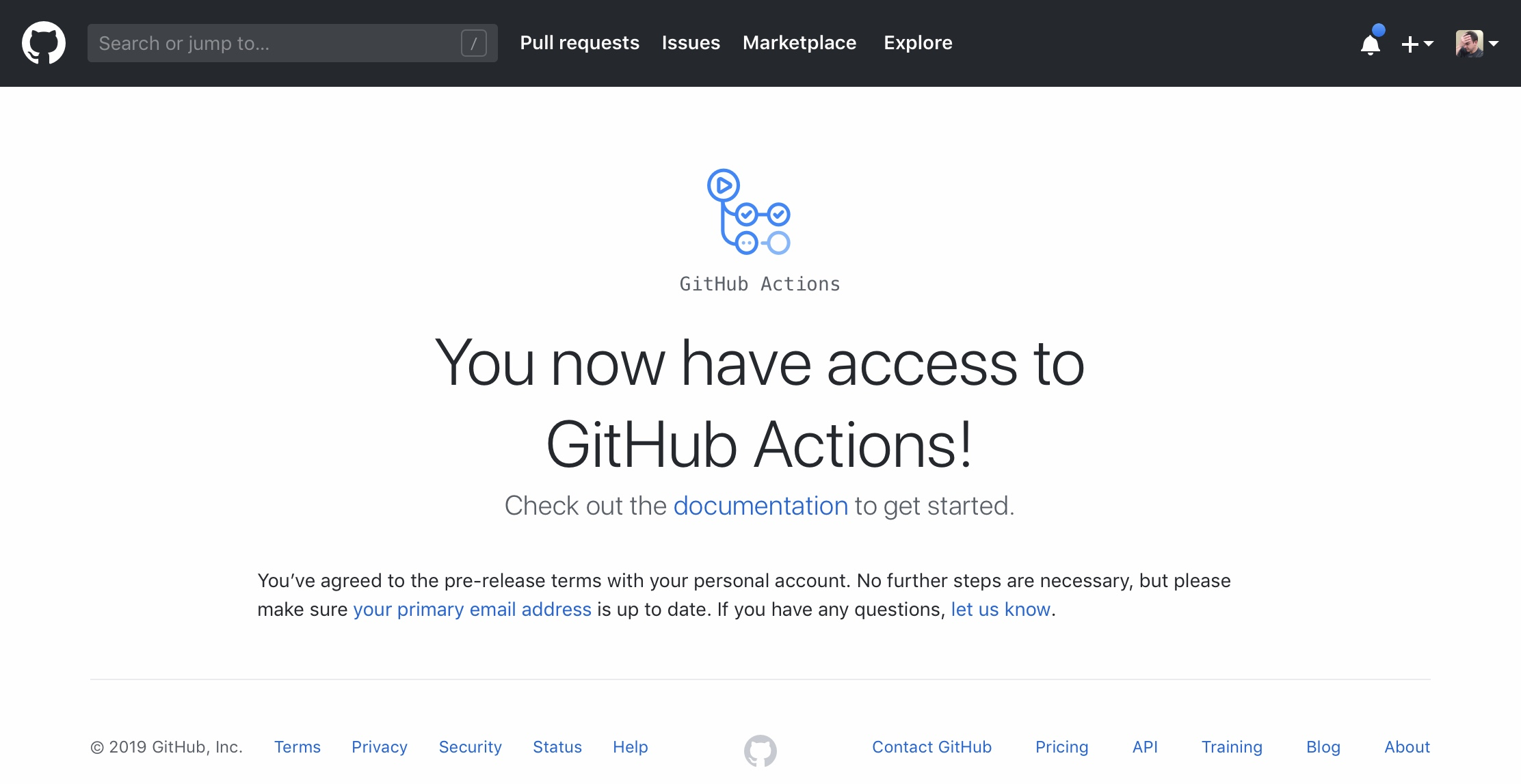 GitHub Actions Activated