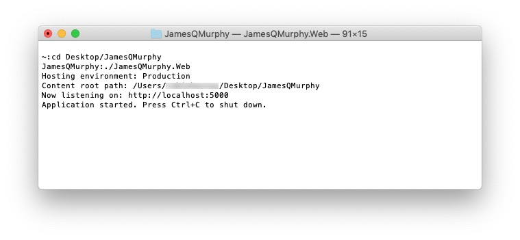 Running a web server on a Mac