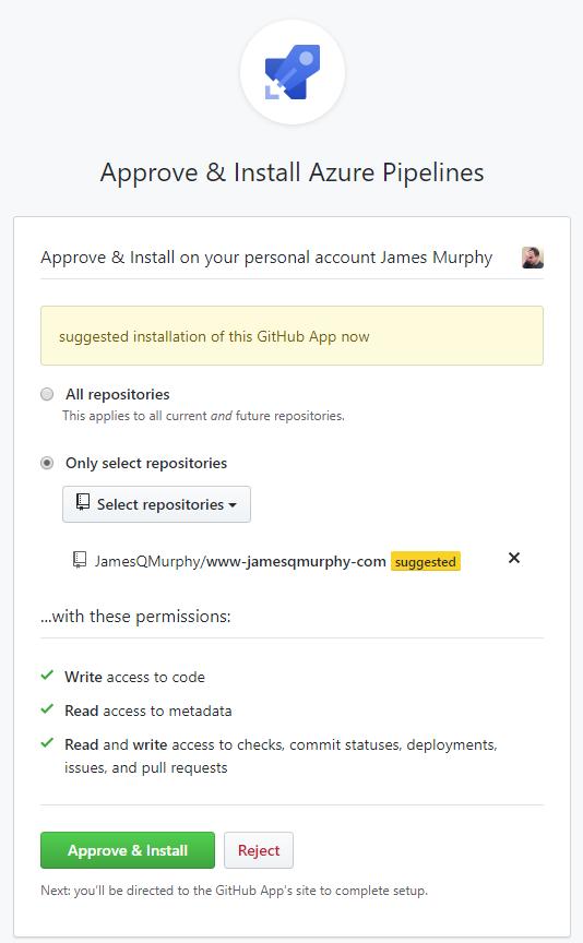 Azure DevOps page